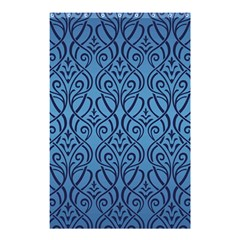Art Nouveau Teal Shower Curtain 48  X 72  (small)  by 8fugoso