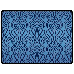 Art Nouveau Teal Double Sided Fleece Blanket (large)  by 8fugoso