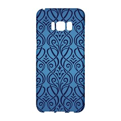 Art Nouveau Teal Samsung Galaxy S8 Hardshell Case  by 8fugoso