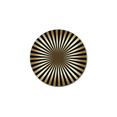 Art Deco Goldblack Golf Ball Marker (4 Pack) by 8fugoso