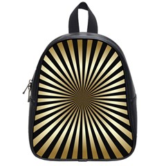 Art Deco Goldblack School Bag (small) by 8fugoso