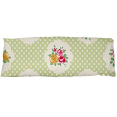 Green Shabby Chic Body Pillow Case (dakimakura) by 8fugoso
