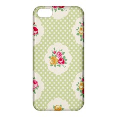 Green Shabby Chic Apple Iphone 5c Hardshell Case by 8fugoso