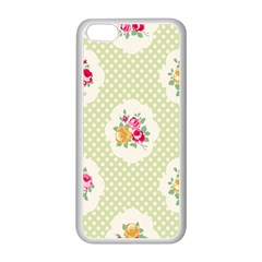 Green Shabby Chic Apple Iphone 5c Seamless Case (white) by 8fugoso