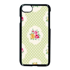 Green Shabby Chic Apple Iphone 7 Seamless Case (black)