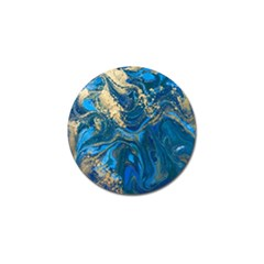 Ocean Blue Gold Marble Golf Ball Marker (10 Pack) by 8fugoso