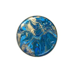 Ocean Blue Gold Marble Hat Clip Ball Marker (10 Pack) by 8fugoso