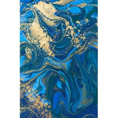 Ocean Blue Gold Marble 5 5  X 8 5  Notebooks by 8fugoso