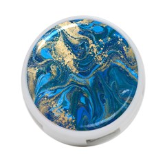 Ocean Blue Gold Marble 4 Port Usb Hub (two Sides)  by 8fugoso