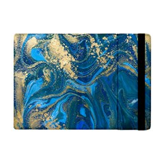 Ocean Blue Gold Marble Apple Ipad Mini Flip Case by 8fugoso