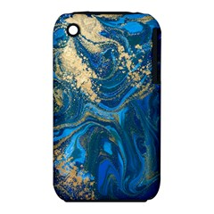 Ocean Blue Gold Marble Iphone 3s/3gs by 8fugoso
