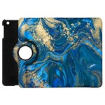 ocean blue gold marble Apple iPad Mini Flip 360 Case Front