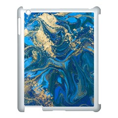 Ocean Blue Gold Marble Apple Ipad 3/4 Case (white) by 8fugoso