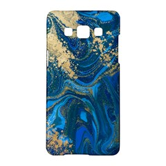 Ocean Blue Gold Marble Samsung Galaxy A5 Hardshell Case  by 8fugoso