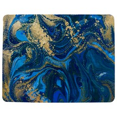 Ocean Blue Gold Marble Jigsaw Puzzle Photo Stand (rectangular) by 8fugoso