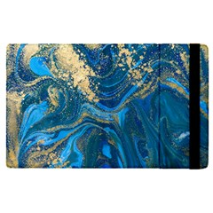 Ocean Blue Gold Marble Apple Ipad Pro 9 7   Flip Case