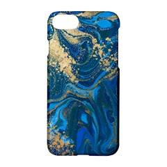 Ocean Blue Gold Marble Apple Iphone 7 Hardshell Case by 8fugoso