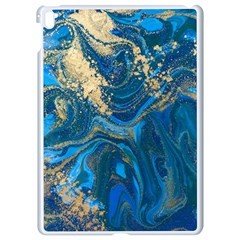 Ocean Blue Gold Marble Apple Ipad Pro 9 7   White Seamless Case by 8fugoso