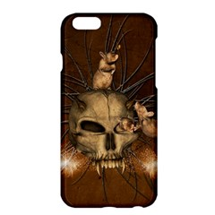 Awesome Skull With Rat On Vintage Background Apple Iphone 6 Plus/6s Plus Hardshell Case by FantasyWorld7