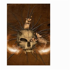 Awesome Skull With Rat On Vintage Background Large Garden Flag (two Sides) by FantasyWorld7