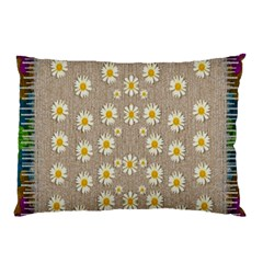 Star Fall Of Fantasy Flowers On Pearl Lace Pillow Case (two Sides) by pepitasart