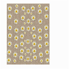 Star Fall Of Fantasy Flowers On Pearl Lace Large Garden Flag (two Sides) by pepitasart