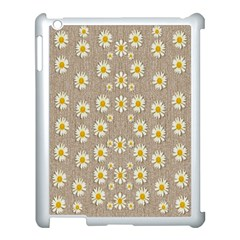 Star Fall Of Fantasy Flowers On Pearl Lace Apple Ipad 3/4 Case (white) by pepitasart