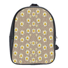 Star Fall Of Fantasy Flowers On Pearl Lace School Bag (xl) by pepitasart