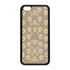Star Fall Of Fantasy Flowers On Pearl Lace Apple Iphone 5c Seamless Case (black) by pepitasart
