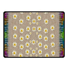 Star Fall Of Fantasy Flowers On Pearl Lace Double Sided Fleece Blanket (small)  by pepitasart
