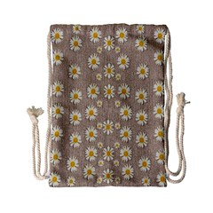 Star Fall Of Fantasy Flowers On Pearl Lace Drawstring Bag (small) by pepitasart