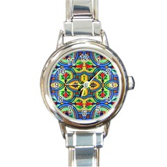 L?¯opera In Lyrical Abstraction Round Italian Charm Watch
