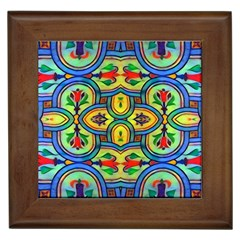 L?¯opera In Lyrical Abstraction Framed Tile