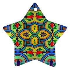 L ooera In Lyrical Abstraction Star Ornament (two Sides)