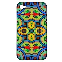 L ooera In Lyrical Abstraction Apple Iphone 4/4s Hardshell Case (pc+silicone)
