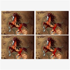 Awesome Horse  With Skull In Red Colors Belt Buckles by FantasyWorld7
