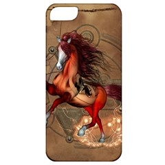 Awesome Horse  With Skull In Red Colors Apple Iphone 5 Classic Hardshell Case by FantasyWorld7