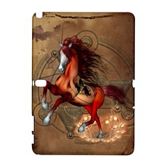 Awesome Horse  With Skull In Red Colors Galaxy Note 1 by FantasyWorld7