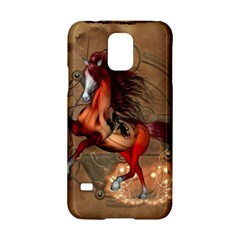 Awesome Horse  With Skull In Red Colors Samsung Galaxy S5 Hardshell Case  by FantasyWorld7