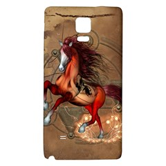 Awesome Horse  With Skull In Red Colors Galaxy Note 4 Back Case by FantasyWorld7