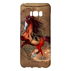 Awesome Horse  With Skull In Red Colors Samsung Galaxy S8 Plus Hardshell Case  by FantasyWorld7
