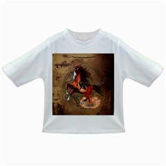 Awesome Horse  With Skull In Red Colors Infant/toddler T-shirts by FantasyWorld7