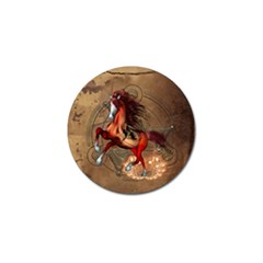 Awesome Horse  With Skull In Red Colors Golf Ball Marker (10 Pack) by FantasyWorld7