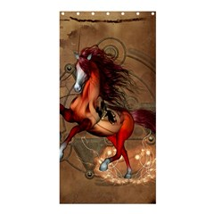 Awesome Horse  With Skull In Red Colors Shower Curtain 36  X 72  (stall)  by FantasyWorld7