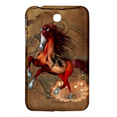 Awesome Horse  With Skull In Red Colors Samsung Galaxy Tab 3 (7 ) P3200 Hardshell Case  by FantasyWorld7