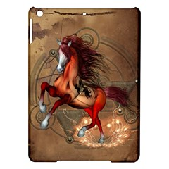Awesome Horse  With Skull In Red Colors Ipad Air Hardshell Cases by FantasyWorld7