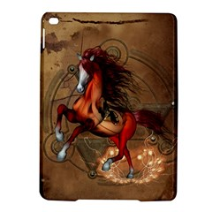 Awesome Horse  With Skull In Red Colors Ipad Air 2 Hardshell Cases by FantasyWorld7