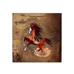 Awesome Horse  With Skull In Red Colors Satin Bandana Scarf by FantasyWorld7