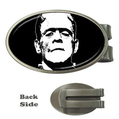 Frankenstein s Monster Halloween Money Clips (oval)  by Valentinaart