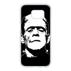 Frankenstein s Monster Halloween Samsung Galaxy S7 Edge White Seamless Case by Valentinaart